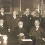 Paris 1925, meeting of the AGBU Central Board, seated center, Boghos Nubar. Earliest photo available of the Central Board.