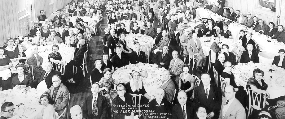 Testimonial Dinner in honor of Alex Manoogian, Providence, Rhodes Island, USA, 1955.