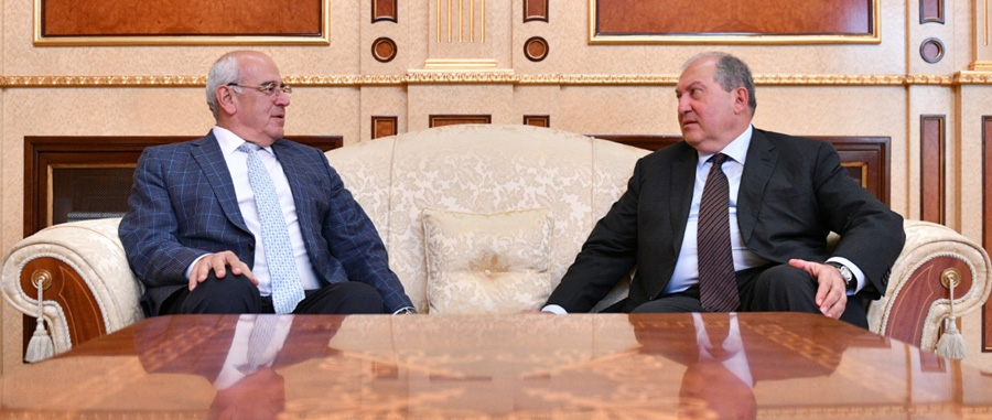 Armen Sarkissian and AGBU President Berge Setrakian