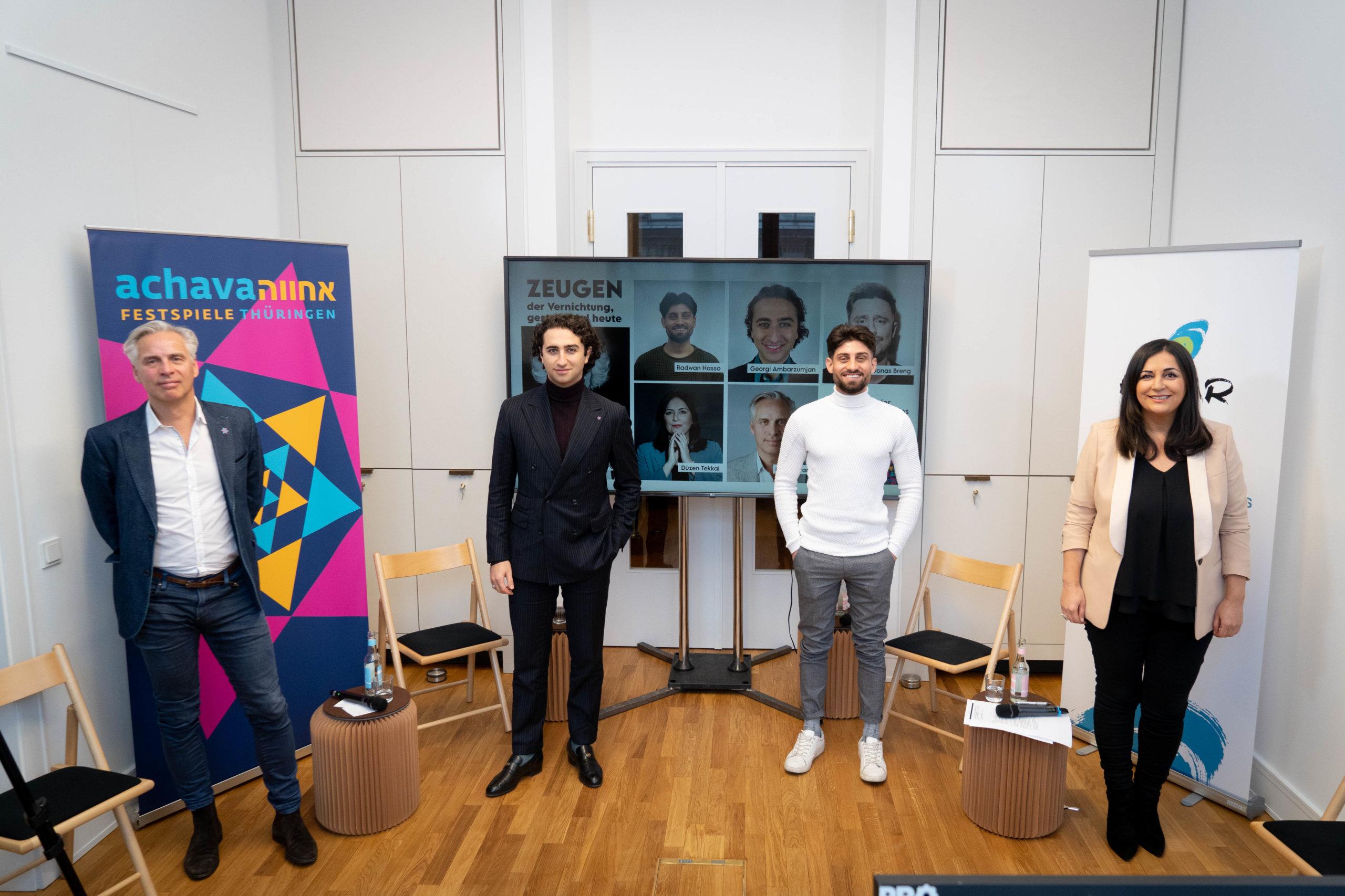 Martin Kranz, Georgi Ambarzumjan, Radwan Hasso & Düzen Tekkal