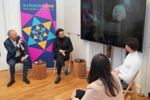 Georgi Ambarzumjan, Radwan Hasso & Düzen Tekkal im Gespräch mit Holocaustüberlebende Éva Fahidi
